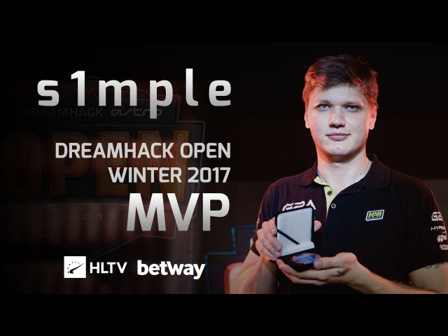 S1mple - HLTV MVP by Betway of DreamHack Open Winter 2017