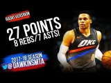 Russell Westbrook Full Highlights 2018.3.20 OKC Thunder vs Boston Celtics - 27-8-7! FreeDawkins