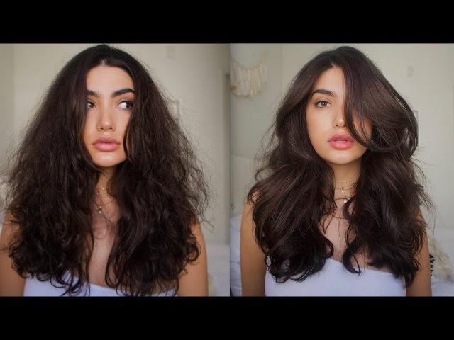 HOW TO GET BIG VOLUMINOUS HAIR / TAME FRIZZY HAIR | HAIR TUTORIAL