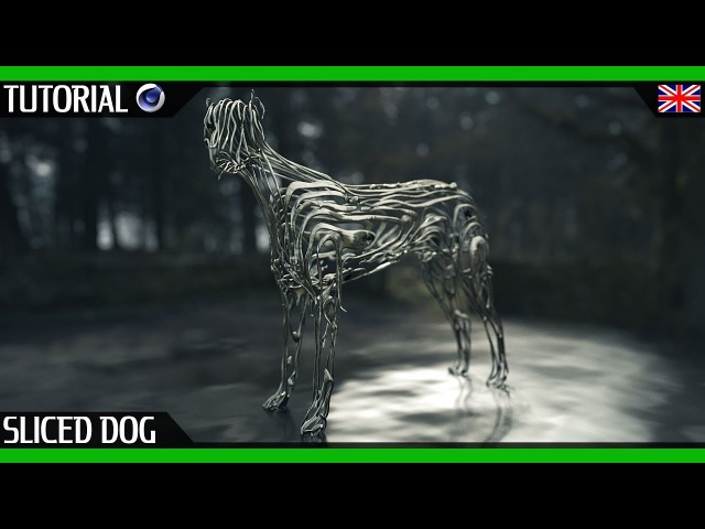 Sliced Abstract Dog | Cinema 4D Zbrush Beginner Tutorial by MHSPROD