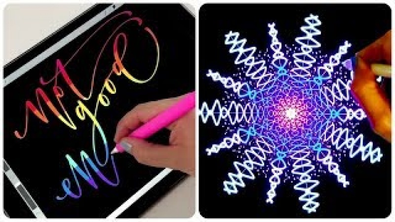 Рисование на планшете Леттеринг и Каллиграфия на айпаде ✍️ Самое Приятное Залипательное Видео