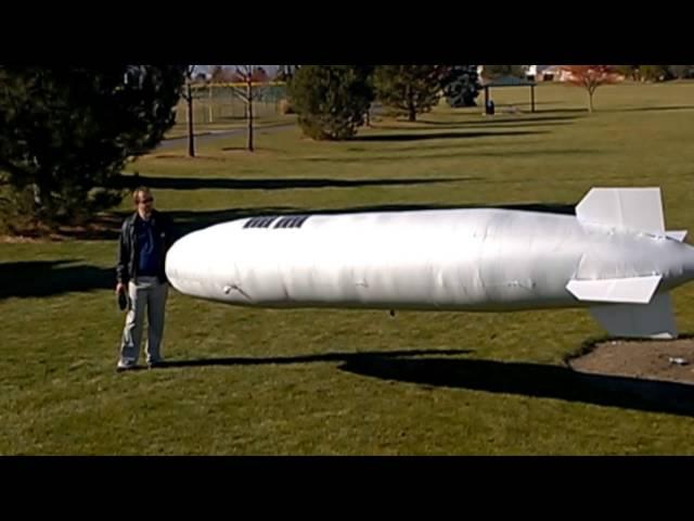 Solar Powered Blimp Drone Prototype