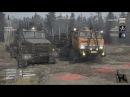 Spintires MudRunner Technical Test Multiplayer с модами Камаз43101-Краз 260 Карта Широкая река