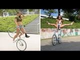 This Artistic Cyclist's Amazing Grace and Balance Will Astound You