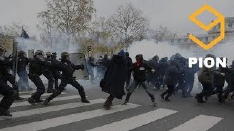 RAW Muslim Migrants Riot in Paris France