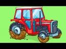 Мультфильмы для детей - Трактор Павлик, Грузовик и Монстр Трак Детские мультики...