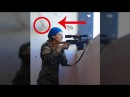 Sniper battle inside Raqqa Syria Kurdish Sniper Girl SDF VS ISIS Survives Sniper Headshot