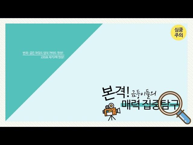 [Golden Film] 본격! 금둥이들의 매력집중탐구🔍 3