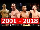 ВСЕ ЧЕМПИОНЫ UFC В СРЕДНЕМ ВЕСЕ! От МЕННЕ до УИТТАКЕРА!