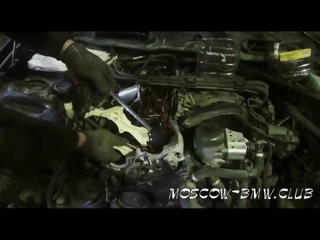 замена цепи в двигателе БМВ N45