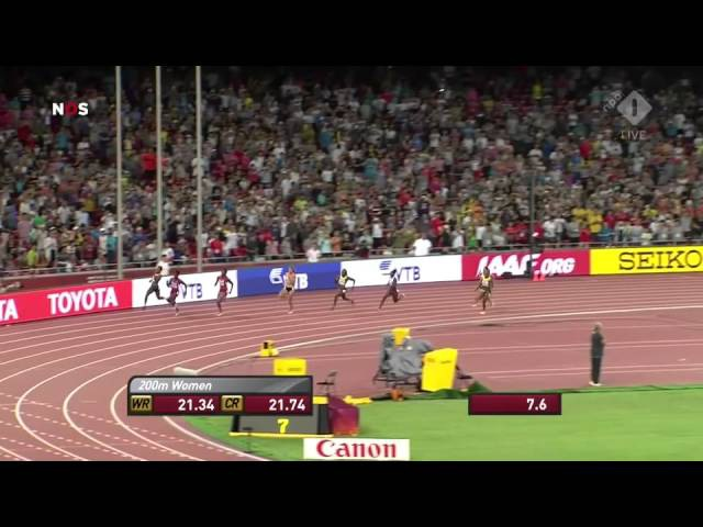 Dafne Schippers wins gold on the 200 meters in Bejing 2015 (HD upload).