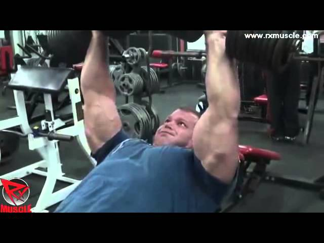 Derek Poundstone Thrashes Chest at Jakked Hardcore Gym.