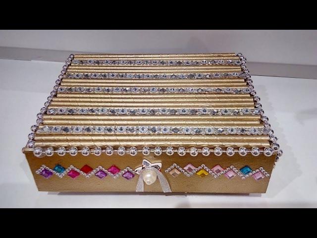 DIY Шкатулка своими руками/Переделки из Фикс Прайс/How to Make Jewellery Box/FIX PRICE ROOM DECOR