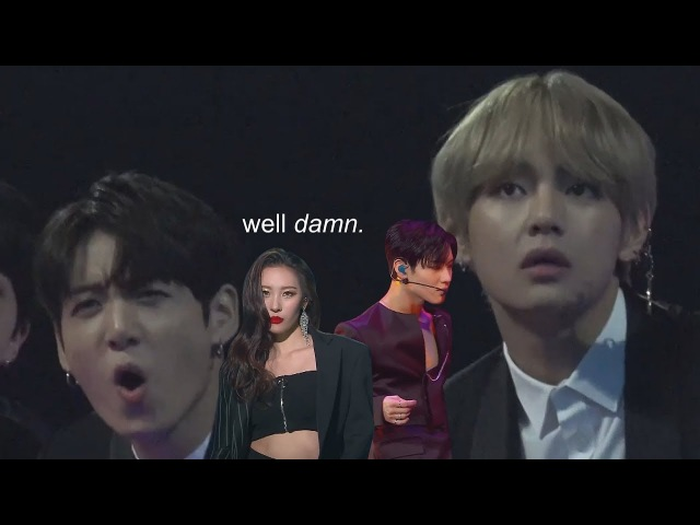Sunmi taemin's collab stage except bts is reacting to them