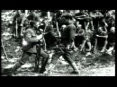 British soldiers demonstrate bayonets and trench tactics to US 307th and 308th In...HD Stock Footage