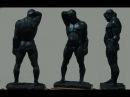 Уроки скульптуры и рисунка этюд фигуры человека, часть 4