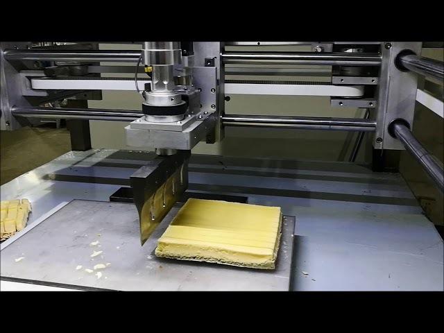 Frozen Cheesecake Cutting - CHEERSONIC UFM5000 Ultrasonic Equipment