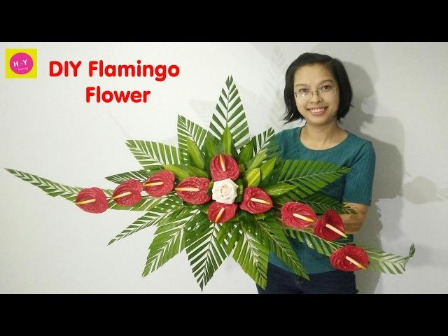 Cắm hoa bàn thờ tập 44 HOA HỒNG MƠN ĐỎ DIY Flamingo Flower