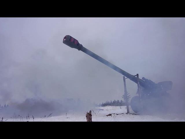 Отработка тактики ударно-огневых контуров на больших дистанциях на полигоне Погоново