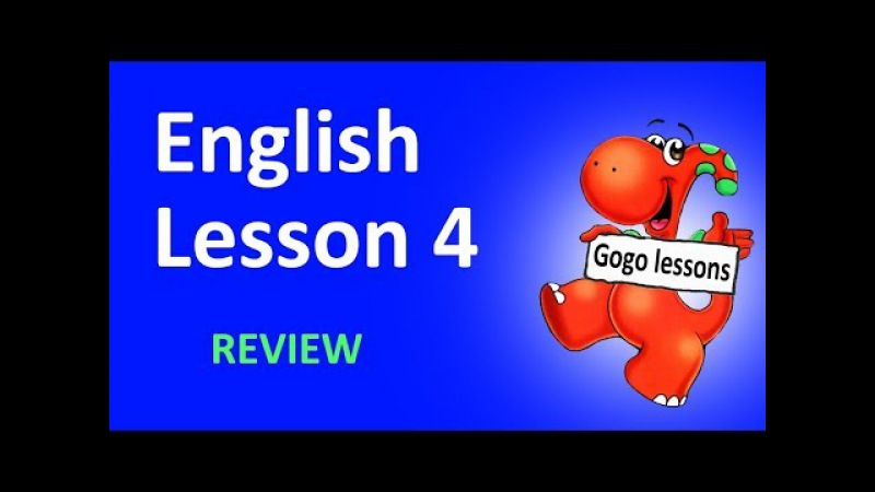 English Lesson 4 - REVIEW. Hello. What's your/his/her name. School vocabulary. ABC - I