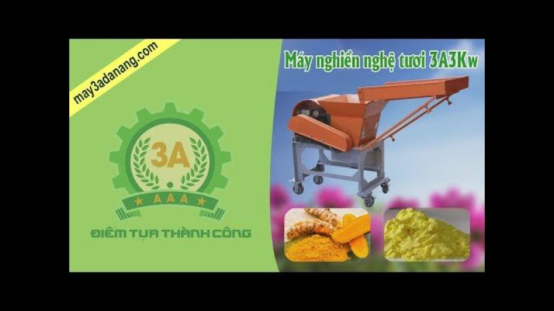 Máy nghiền nghệ tươi 3A3Kw - Quy trình sản xuất tinh bột nghệ