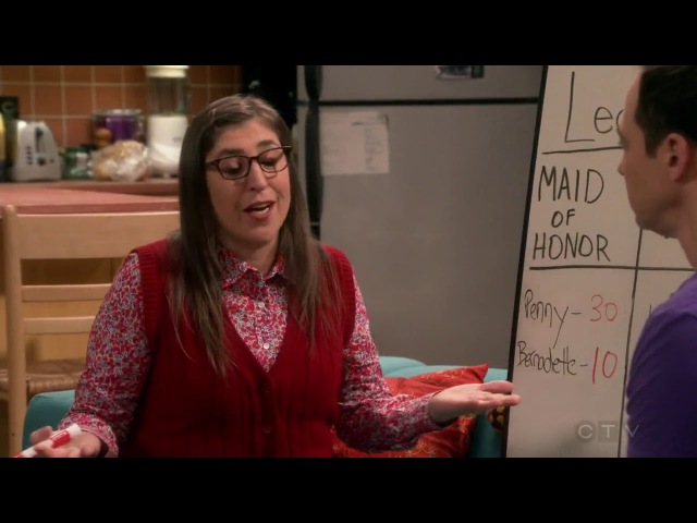 Sheldon and Amy are choosing maid of honor and best man through science -The Big Bang Theory S11E12