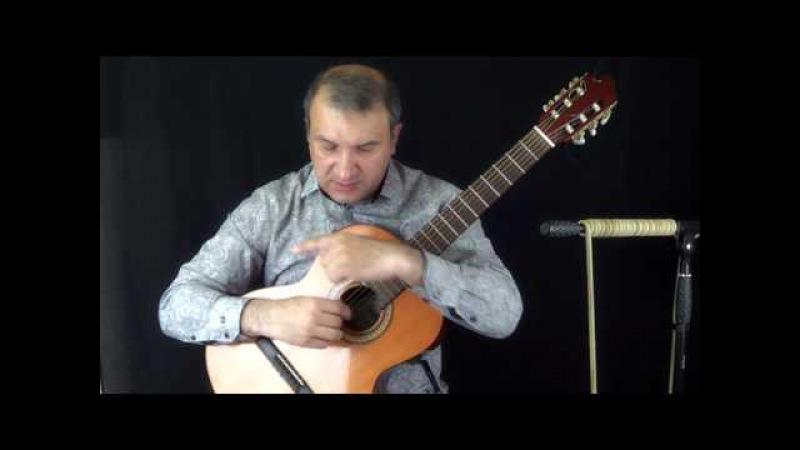 Техника гитариста. Апояндо тирандо