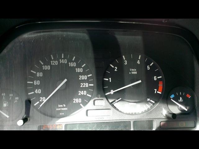 БМВ Е34 Тест приборки BMW E34