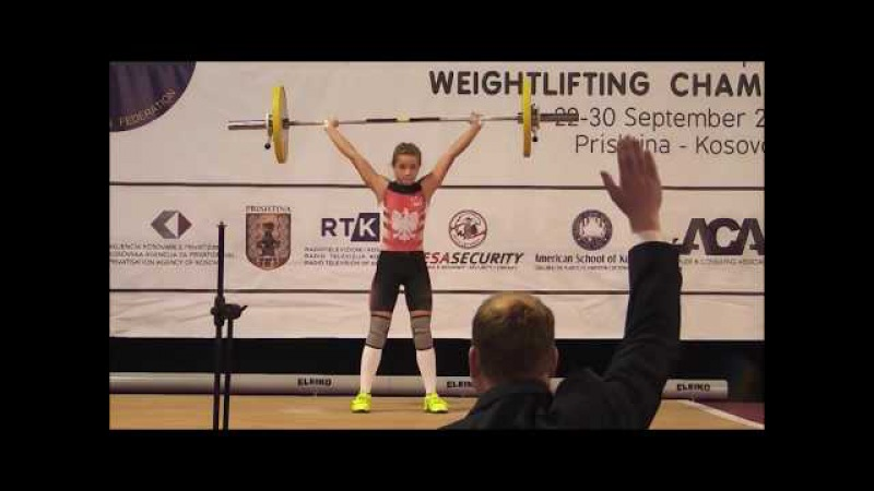 Women U15 44 48kg - 2017 EUROPEAN WEIGHTLIFTING CHAMPIONSHIPS U15 U17