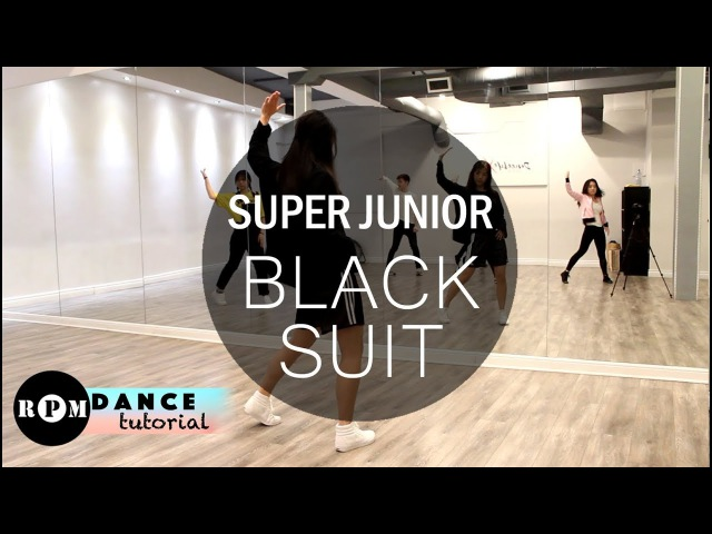 Super Junior Black Suit Dance Tutorial (Chorus)
