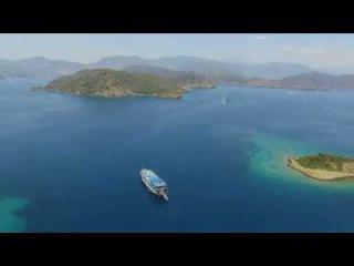 Плоский остров - одна из остановок круиза к 12-ти островам. Fethiye Island & Oludeniz 2017