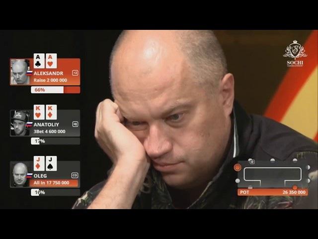 Эпичная покерная раздача в СОЧИ 2017 Epic Poker Hand Sochi PartyPoker