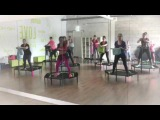 Despacito- Jumping fitness by Flor Latina a woman with