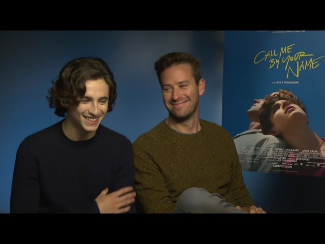Armie Hammer Timothée Chalamet cute moments (Part 2)
