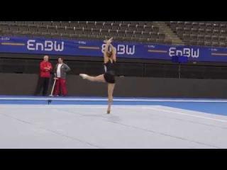 Maria Kharenkova RUS FX dance through PT 2018 DTB Cup Stuttgart