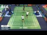 Vladimir IVANOV Ivan SOZONOV vs Takeshi KAMURA Keigo SONODA  Badminton 2017 French Open R16