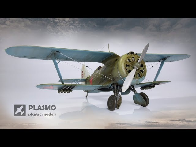 Polikarpov I-153 Chaika - 1/48 scale ICM model kit - aircraft model