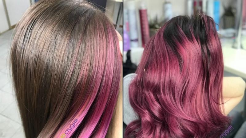 Яркие волосы в BIOSTUDIO