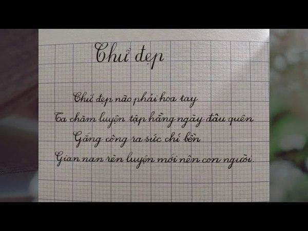 Luyện viết chữ đẹp Nét Chữ Việt