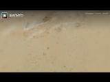 Нагорнолыжном курорте вСочи вместе соснегом выпал песок