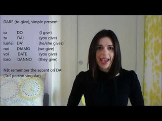 LEARN ITALIAN: IRREGULAR VERBS, simple present
