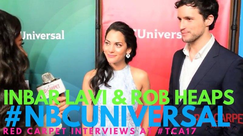 Inbar Lavi Rob Heaps Imposters interviewed at NBCUniversal's Winter 2017 Press TCA Tour