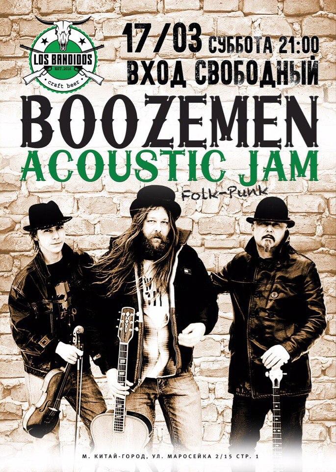17.03 Boozemen Acoustic jam в Los Bandidos!