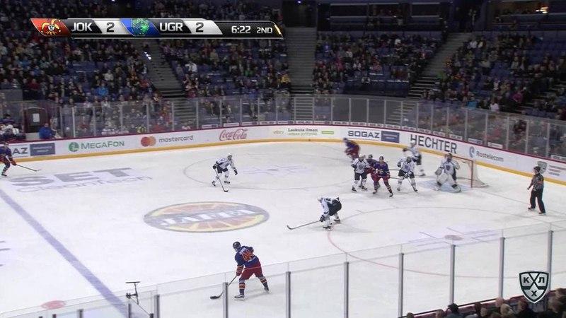 Моменты из матчей КХЛ сезона 17/18 • Гол. 3:2. Марьямяки Маси (Йокерит) подправил на пятаке 28.01