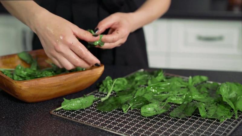 Сырые чипсы из шпината рецепт для дегидратора пищевая сушилка 1