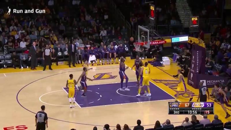 Лос-Анджелес Лейкерс 113 : 122 Финикс Санз. Обзор(Баскетбол. НБА 18.11.2017)