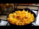 Жареная картошка. Жареная картошка на сале. Fried potato in a lard