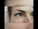 стрелка с растушевкой после процедуры перманент.макияжа 🌹 брови свежеокрашенные хной