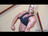 Fabiola Boulanger poses her muscles great FBB
