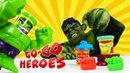 Go Go Heroes • ХАЛК играет в ПЛЕЙ ДО! Пластилин с супергероями!